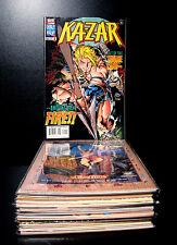 COMICS: Marvel: Kazar # 1-17 (1997), Mark Waid story - RARE