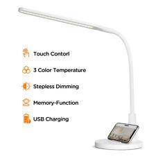 Schreibtischlampe LED Tischleuchte Leselampe Nachtischlampe Dimmbar Touch