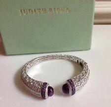Judith Ripka Sterling Silver 8.25 cttw Amethyst Cuff Bracelet in AVERAGE