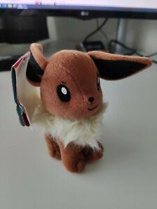 Pokemon Beanie Bag Plush – Eevee – Hasbro 1999 – 58060/58058