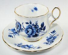 Elizabethan Blue Flower Coffee Tea Cup Saucer Fine Bone China England MINT
