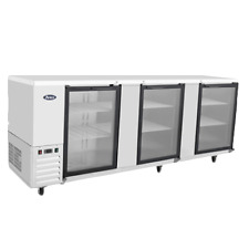 """Atosa Mbb90G 89""""Back Bar Bottle Coolers 3 Glass Door. Sntainless Steel"""