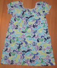 Euc Youth Girl's Eu 120 6X 6 - 7 Hanna Andersson Blue Purple School Dress
