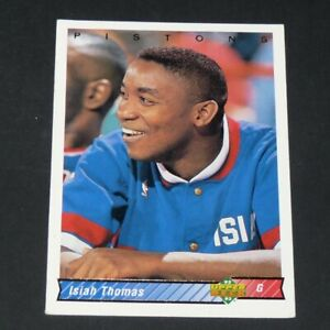 ISIAH THOMAS DETROIT PISTONS 1992-1993 NBA BASKETBALL UPPER DECK CARD