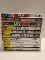 Lot Of 10 PS3 Playstation 3 Sports Games MLB, NBA, UFC, NFL SEE PICS SHIPS FREE!