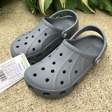 NEW Crocs Ralen Clog K Youth GS Beach Shoes Boys Kids 15908-025 Gray Size 12/13