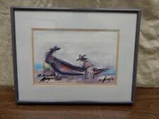 1980 Vintage Authentic Hand Signed, Gifted Print by Ted DeGrazia 1909-1982-NICE!