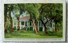 Postcard Jefferson Davis Shrine Beauvoir Between Biloxi & Gulfport Mississippi