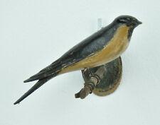 Antike holzgeschnitzte Schwalbe, 16 cm lang, ca um 1900/Anfang 20.Jh., Holzvogel
