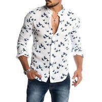 Ropa Camisas de Moda Para Vestir Camisa De Hombre Camiseta Hilo Manga Larga