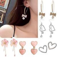 Fashion Korean Crystal Heart Earrings Stud Personality Fairy Women Jewelry Gift
