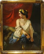 Huge 18th 19th Century Old Master Judith and Holofernes Antique Oil Painting