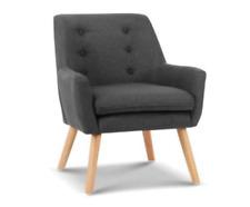 Artiss Anne Armchair Tub Dining Chair - Charcoal
