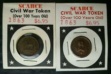Two 1863 Civil War Tokens