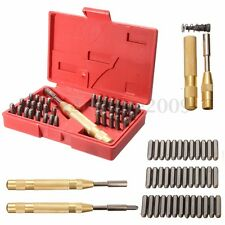 38Pcs 1/8'' Steel Number Letter Hand Stamp Set Kit for Soft Metal Punch Imprint