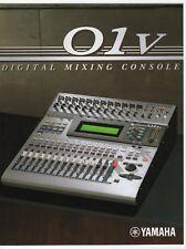 """Vintage Sales Brochure & Flyer: Yamaha """"Digital Mixing Console 01v"""" + """"01v Link"""""""