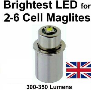 MAGLITE LED UPGRADE Conversion Bulb for 2 to 6 D/C cell Flashlights