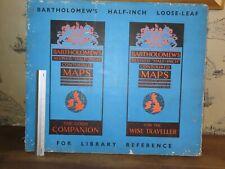 1962 BARTHOLOMEW HALF INCH CONTOURED MAPS of ENGLAND WALES x 39