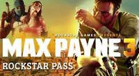 Max Payne 3 Rockstar Pass   Steam Key   PC   Digital   Worldwide  