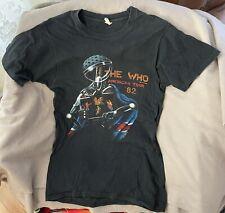 Vintage Authentic The Who Concert T-Shirt 1982 Schlitz American Tour 80's Large