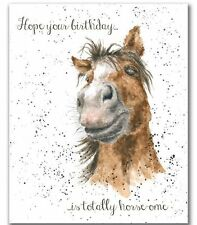 Wrendale HORSE BIRTHDAY CARD by Hannah Dale Made in UK HOPE YOUR BIRTHDAY IS....
