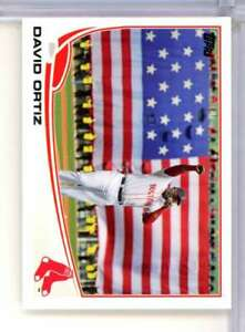 2013 TOPPS DAVID ORTIZ AMERICAN FLAG SP #595 BOSTON RED SOX W1328
