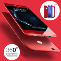 For Huawei Y6 Y7 2018 Hybrid 360° Slim Hard case Cover & Tempered Glass