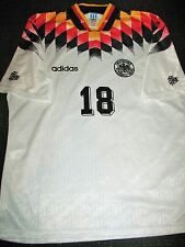 Authentic Klinsmann Germany 1994 WC USA Jersey Deutschland Trikot Shirt Inter L
