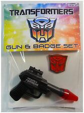 Vintage TRANSFORMERS GUN & BADGE Set (1984) HASBRO TOYS
