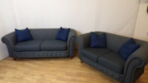Chesterfield 2 and 3 seater sofa set
