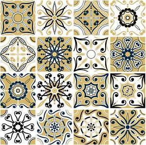 Colour Mosaic Pattern Stickers Transfers For 145mm x 145mm (14.5cm) Tiles GT87
