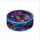 Skin Decal for Amazon Echo Dot 2nd gen / Neon Color Swirl Glass