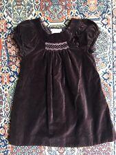 Jacadi Paris Velvet Brown Beautiful Dress Size 3 Years