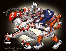 University Of Georgia Bulldogs And Auburn Tigers Football 2017 SEC Champions Art