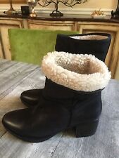 Women's Report Signature Fireside Leather Shearling Boots New Size 8.5
