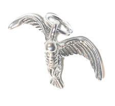 STERLING SILVER CHARM Flying BIRD in FLIGHT