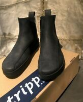 """TRIPPEN   NEW in box BOOTS """" Crust """" Black Leather size39 / 9us"""