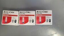 3 Boxes Accu-Chek Aviva 100 Count Diabetic Test Strips 300 Strip Total NEW!!