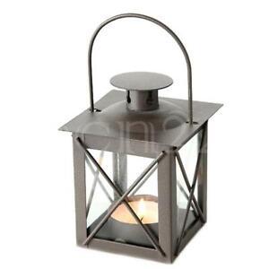 Laterne 10,5cm als Windlicht aus Metall mit Glas