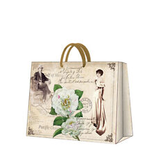 Printed Paper Gift Present Bag MR AND MRS MARTINEZ Vintage Roses Horizontal / D