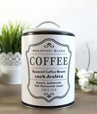 Kaffeedose Vorratsdose Vorratsbehälter Kaffee Cafe Aufbewahrungsdose weiss Retro