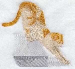Embroidered Ladies Fleece Jacket - Stretching Cat I1262 Sizes S - XXL