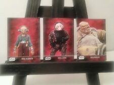 Force Awakens Promo Card Lot Maz Kanata Wollivan Grummgar Star Wars 7 Cards