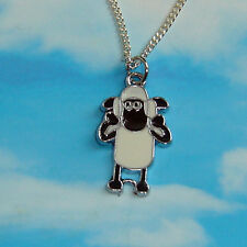 CUTE SHAUN THE SHEEP CHARM PENDANT NECKLACE iIN GIFT BAG SILVER PLATED CHAIN