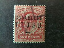 GREAT BRITAIN, KEVII, T.L.J.S.B.L. (COMMERCIAL) & CANCELLED OVERPRINT