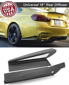 "18"" G3 Rear Bumper Wing Lip Apron Splitter Diffuser Canard w/ Vent For BMW"