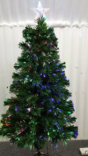 Multicoloured Fibre Optic Lights Green Christmas Tree 3FT 90cm Star Stand PreLit