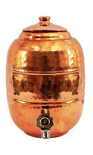Pure Copper 6.5 ltr. Water Pot Storage Tank With Tap Kitchen Home Garden Glass 1
