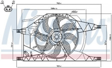 Lüfter, Motorkühlung NISSENS 85257 für RENAULT