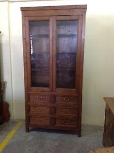 Vetrina/dispensa/armadio con cassettiera toscana -primi '900